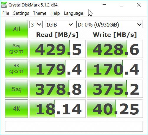 ความเร็วในการเขียนอ่านของ WD 3D NAND SATA SSD