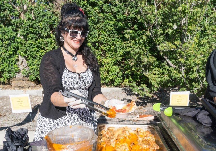 Buffalo Wings, Cassandra Bazinet, Angela's Cafe - Punta Gorda Restaurant Week 2017 - Launch Party, Oct. 26, 2017