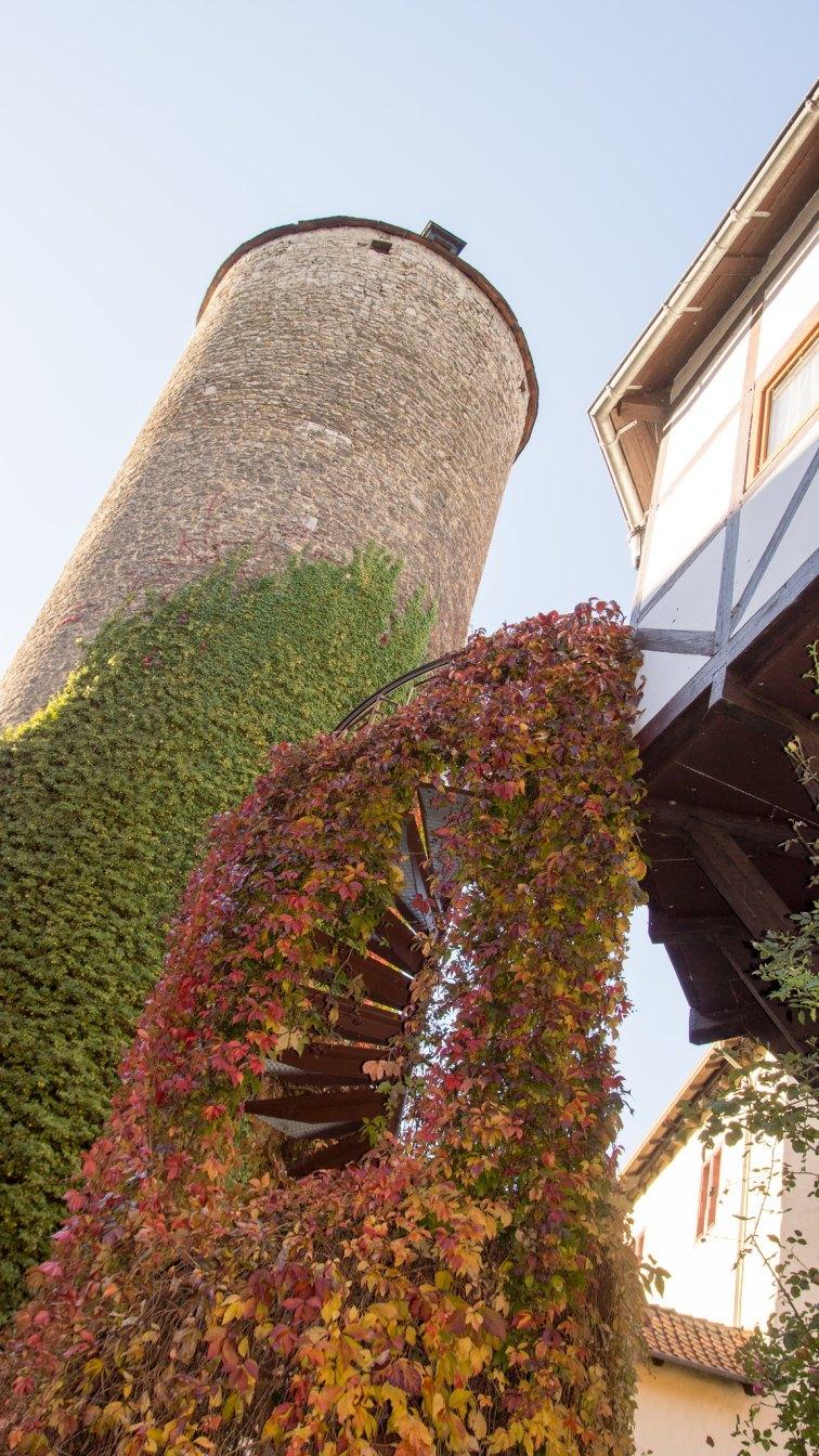 2017-10-15 Wasserschloss Burgfried und Aufgang Turmzimmer