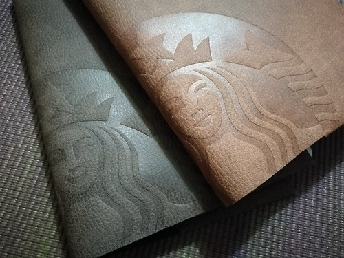 Starbucks leather covers