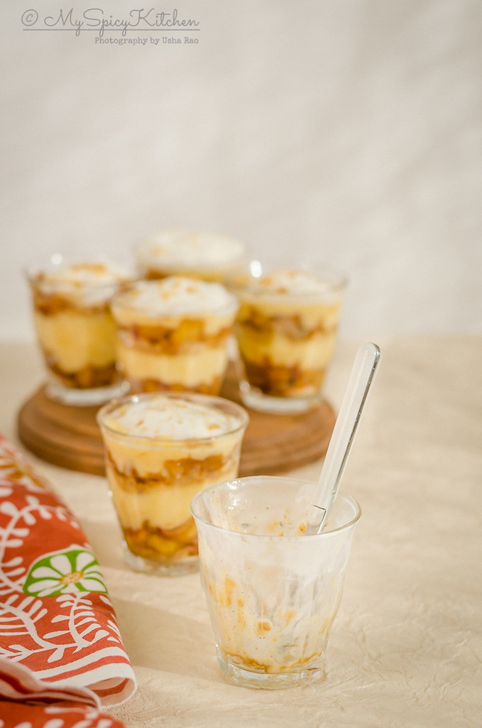 Apple trifle pudding, mini apple trifle pudding, apple trifle pudding is a quick and easy dessert, apple dessert, dessert,