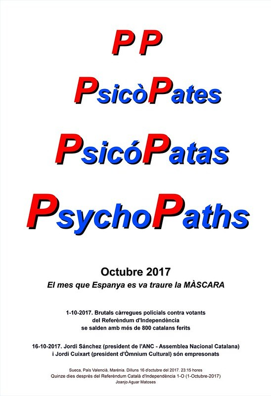 PP. PsicoPates. PsicoPatas. PsychoPaths. Referendum 1-O. BLANC (16-10-2017) -IMATGE-PNG