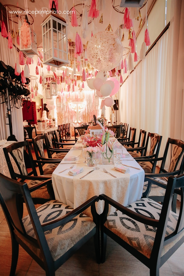 pauleen luna pretty in pink baby shower table