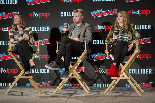 Jodie Foster, Charlie Brooker and Annabel Jones