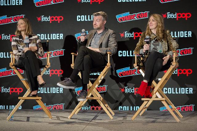Jodie Foster, Charlie Brooker and Annabel Jones