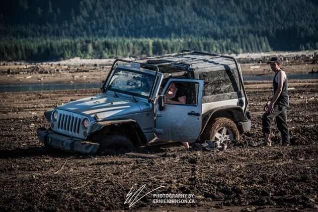 another jeep stuck in the mud