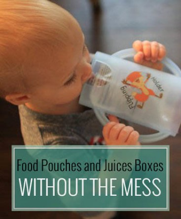 Food Pouches and Juices Boxes without the Mess