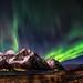 Aurora Borealis above Mt. Stornappstinden