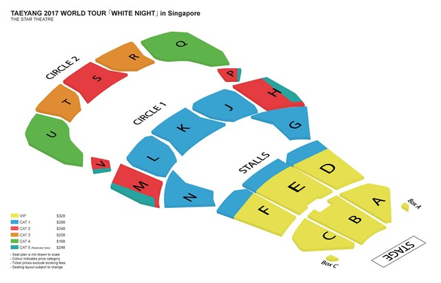 Taeyang 2017 'WHITE NIGHT' World Tour in Singapore Seating Plan