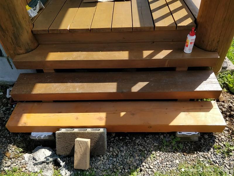 ベランダの階段修理 (7)