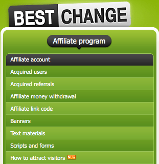 Programa de afiliados de BestChange