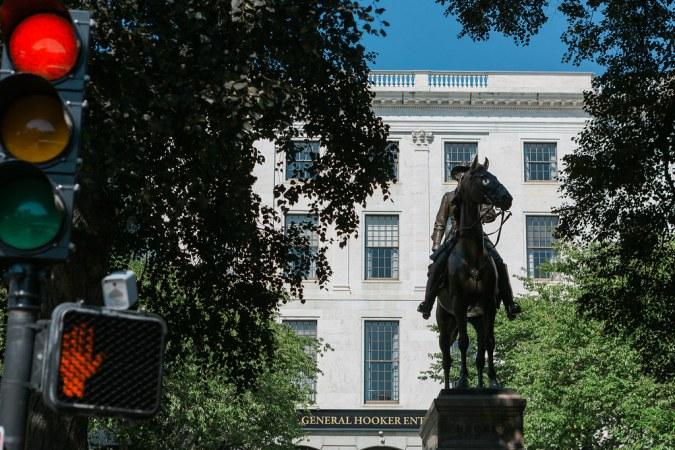 General Joseph Hooker Monument in Boston