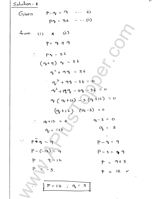 ML Aggarwal ICSE Solutions for Class 9 Maths Ch 3