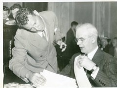 Pressman confers with CIO's Phillip Murray: 1938