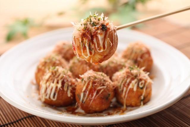 Takoyaki with Soy Sauce
