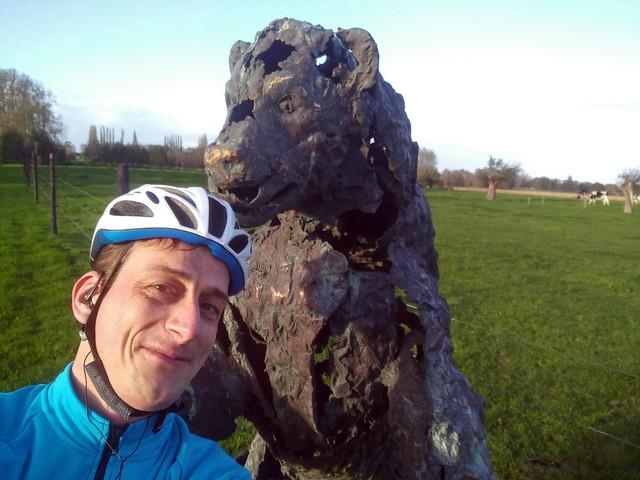 Geposeer met een beer