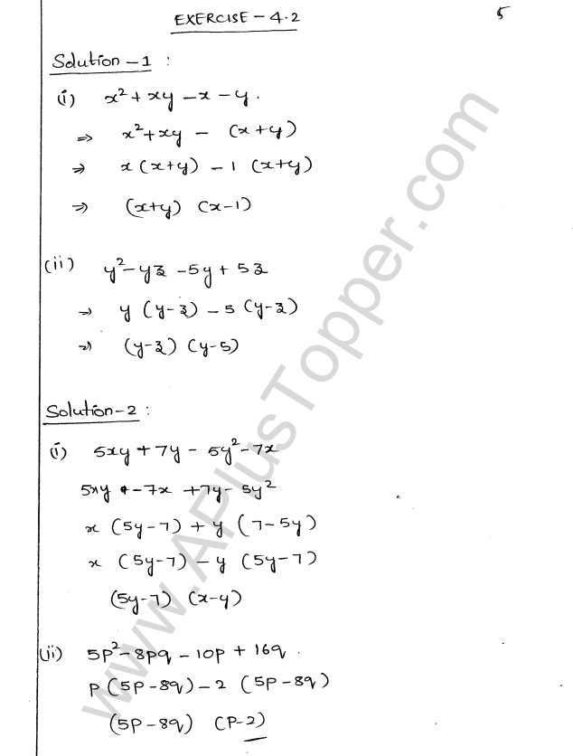 ML Aggarwal ICSE Solutions for Class 9 Maths Chapter 4 Factorisation