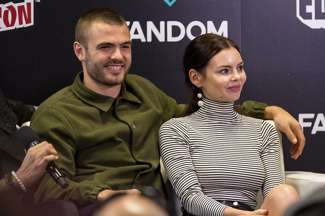 Alex Roe and Eline Powell