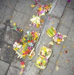 Ubud - Les offrandes, plus tard