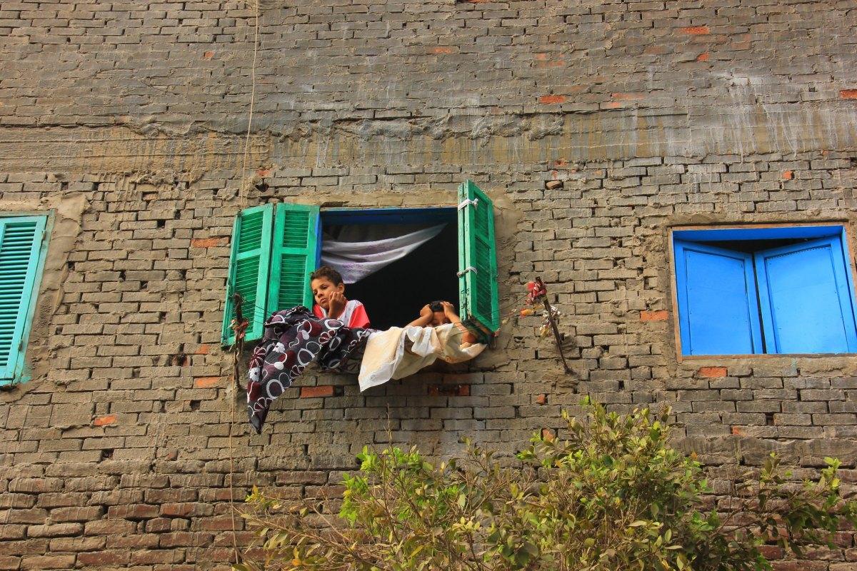 Illegal housing at Souq al Goma