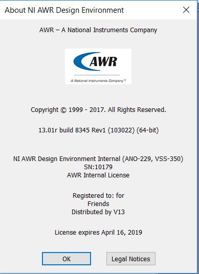 NI AWR Design Environment 13.01 full license