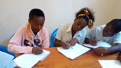 Students in their learning session in Bukavu