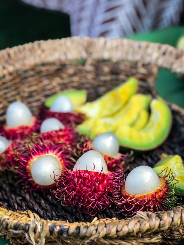 fresh rambutan may look bizarre, but they're sweet and juicy