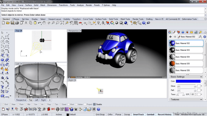 Learning Rhino Modeling Techniques by videos