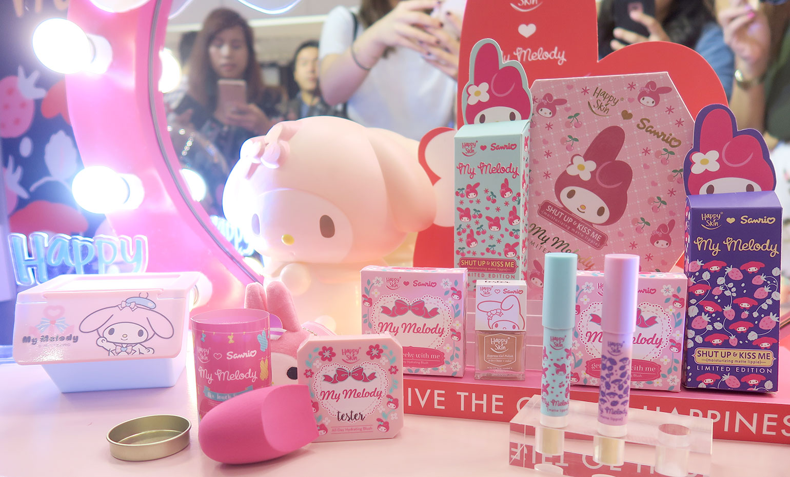 4 Happy Skin x Sanrio Characters - Grand Launch, Preview, Swatches - Gen-zel - She Sings Beauty