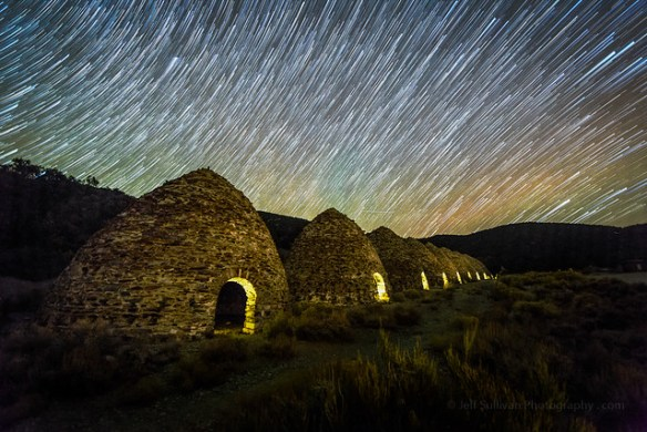 Star Trails Over Charcoal Kilns