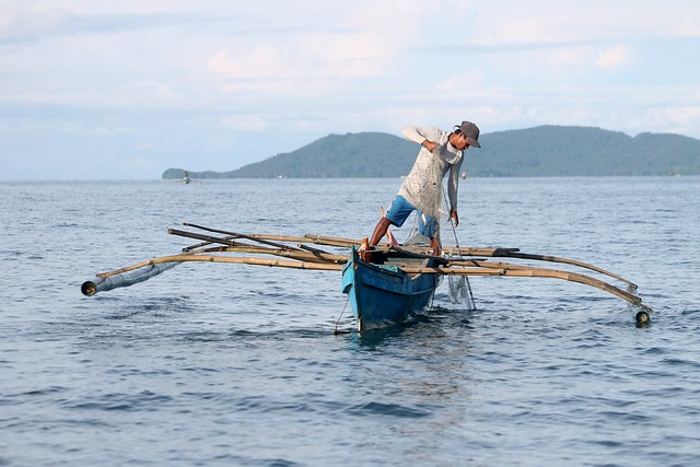 Fisherman at Guimaras Strait