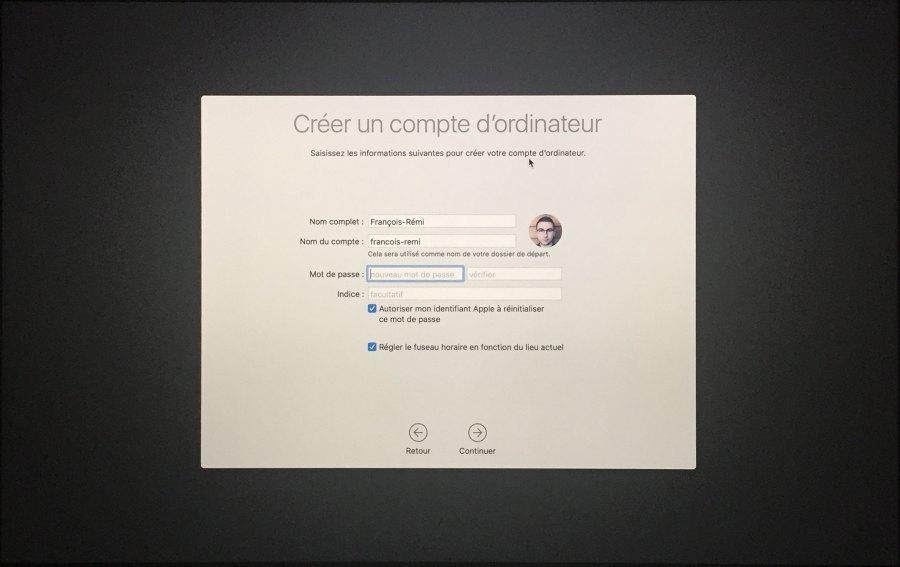 Installation mac OS Etape 00021