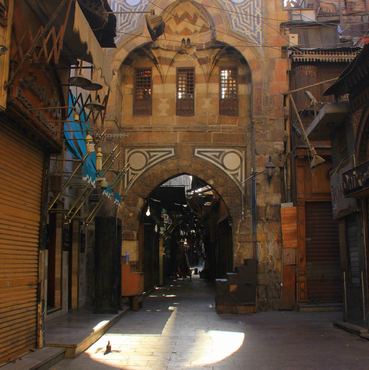 Maul style architecture is visible at khan el khalili market