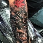 Samurai skull for Jack. Done at New Wave Tattoo, London. Thankyou! #samurai #skull #japanese #blackandgreytattoo