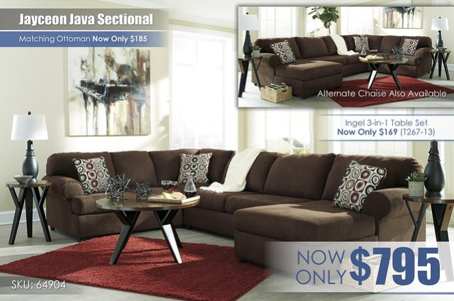Jayceon Java Sectional 64904-66-34-17-T267