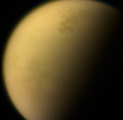 NASA Team Finds Noxious Ice Cloud on Saturn's Moon Titan
