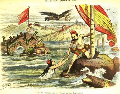 17j05 Rebelión cantonal, grabado de época ca 1873 - 1874