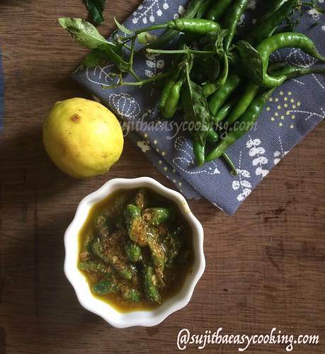 Green chili pickle 4