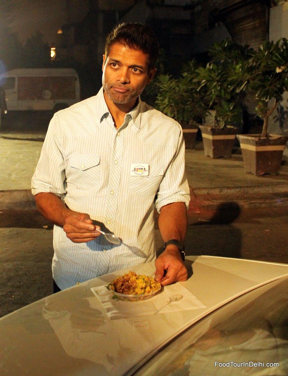Tasting Bhel Puri