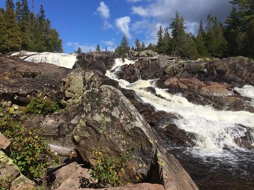 Lake Superior Provincial Park Sand Lake hike and falls 4