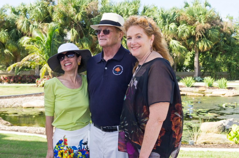 Linda and Roger Tetrault and Photographer/Artist Laurie Tennent - Peace River Botanical & Sculpture Gardens, Punta Gorda, Fla., Oct. 2017