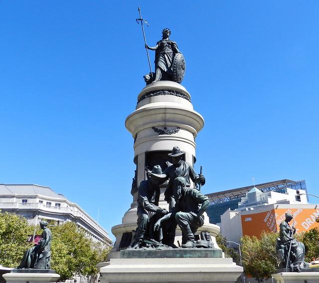 estatua Memorial James Lick Ayuntamiento de San Francisco California EEUU