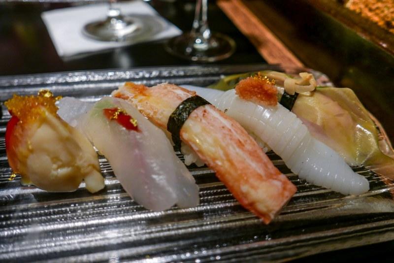 12-Piece Nigiri Platter - Hokki, Hirame, Alaskan King Crab, Ika, Shimi Saba
