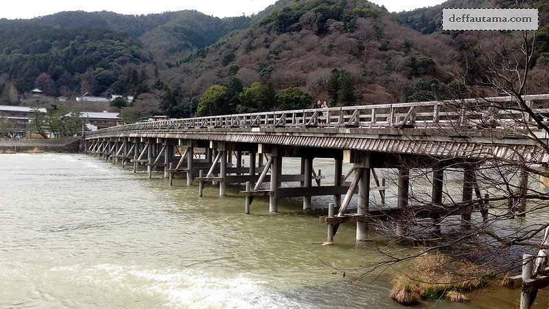 3 Hari Keliling Kyoto - Togetsukyo Bridge