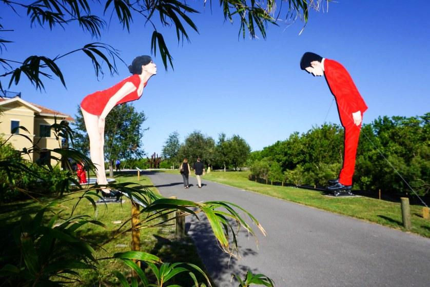 """Ostriches"" - Peace River Botanical & Sculpture Gardens, Punta Gorda, Fla., Oct. 2017"