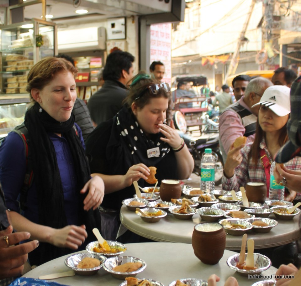 Tasting street food in Old Delhi