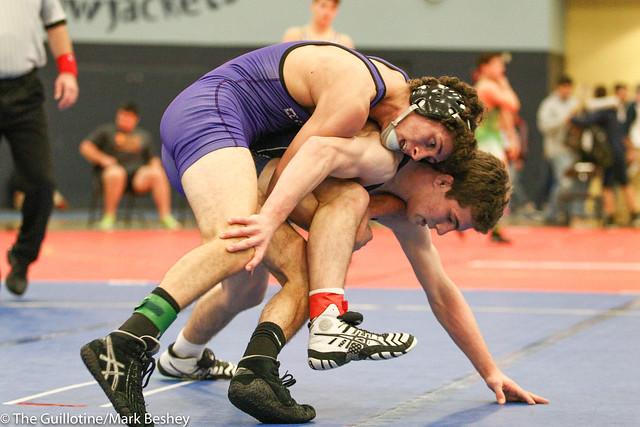 132 lbs 1st Place - Sam Stuhl (Ellsworth) won by decision over Aidan Medora (Brookfield Academy) Dec 10-6. 171021mk0053