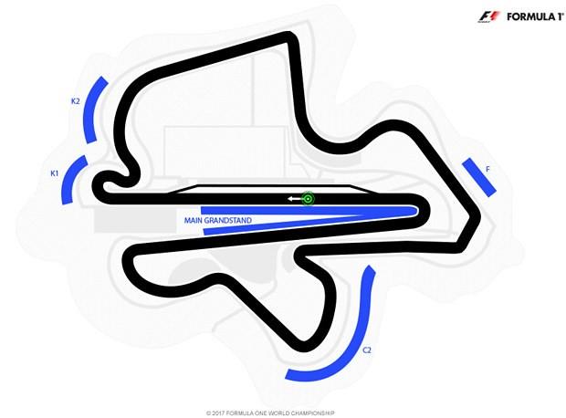 171017 F1マレーシアGPセパンインターナショナルサーキットコース図