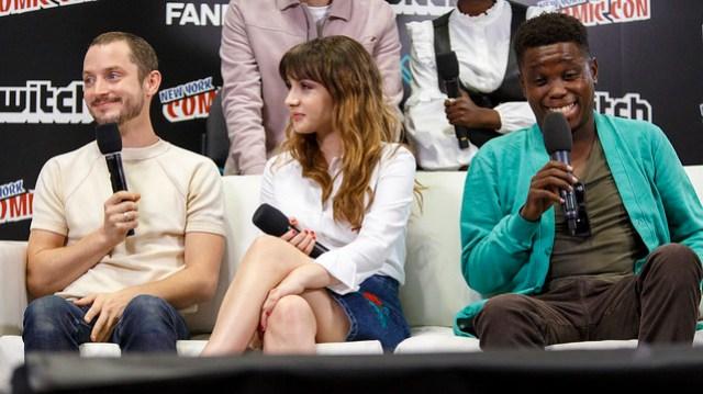 Elijah Wood, Hannah Marks and Mpho Koaho