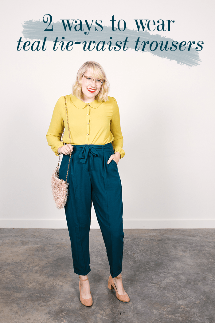 tie waist trousers two ways